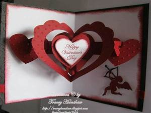 VALENTINE'S DAY POP OUT CARD FRONT & INSIDE by TraceyMay1 ...