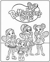 Cafe Coloring Butterbeans Butterbean Printable Café Dazzle Poppy Characters Friends Disney sketch template