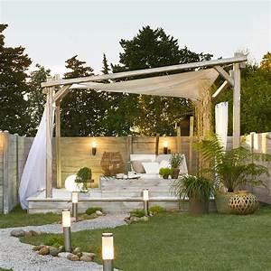 tonnelle autoportante portofino bois gris 1225 m2 With leroy merlin tonnelle de jardin