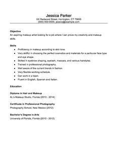 A Resume Sle by 7 Beginner Makeup Artist Resume Sle Resumes Sle Jennies
