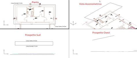 calcolo volume tetto a padiglione edificio disegno dei colmi e delle gronde de tetto