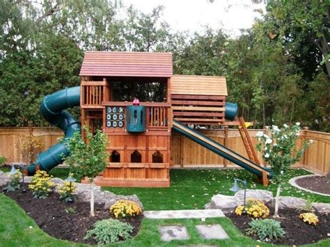 Home Playground : Again, Would Probably Do Mulch Instead Of Grass Under