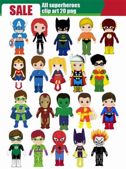 Superhero Superheroes Clipart Clip Super Marvel Cartoon