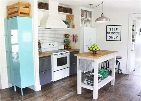 ikea stenstorp kitchen island small kitchen makeover in a mobile home