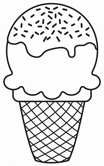 Ice Cream Clipart Cone Coloring Pages Cupcake