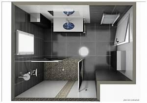 Implantation Salle De Bain : plan salle de bains 3d id es d co salle de bain ~ Dailycaller-alerts.com Idées de Décoration