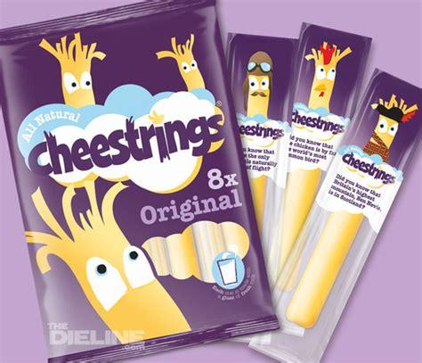 square glass jar cheesestrings the dieline packaging branding design