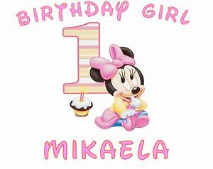 Baby minnie mouse 1st birthday clipart