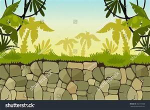 Pics For > Cartoon Jungle Pond