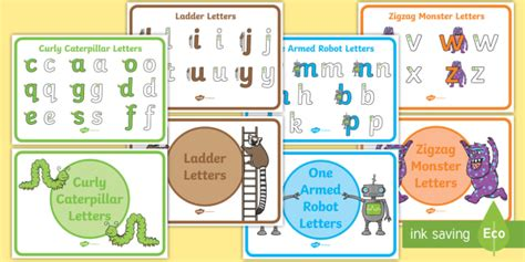 letter formation families display posters foundation