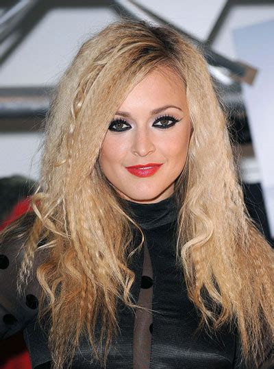 fearne cottons crimped  curly long hairstyle party