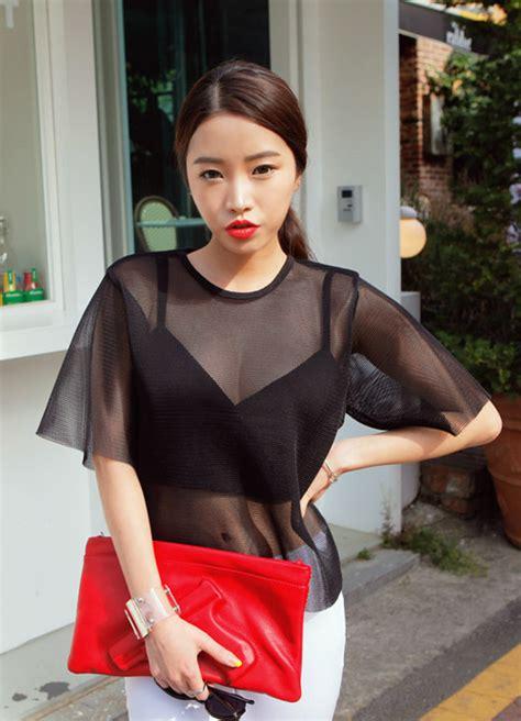 stylenanda   mesh blouse kstylick latest