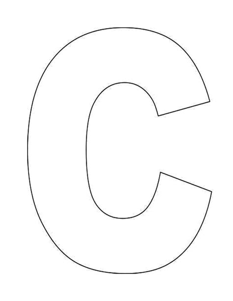 Large Letter C Template by Letter C Coloring Pages To And Print For Free