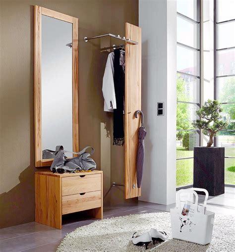 garderoben set massiv garderoben set 3teilig garderobe spiegel kommode kernbuche massiv ge 246 lt