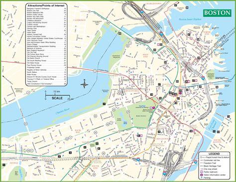 boston tourist map  travel information