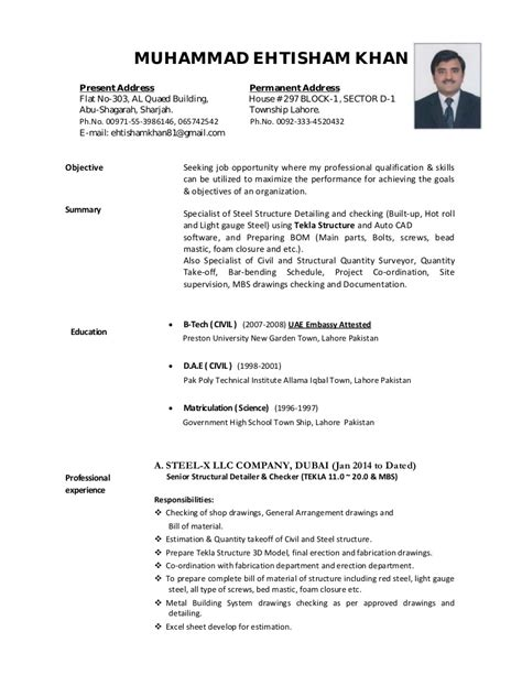 Cvehtisham (tekla Steel Detailer And Checker. Sample Business Administration Resume. Professional Experience Resume Format. The Meaning Of Resume. Resume Template Singapore. Types Of Resume Format Sample. Sample Executive Summary Resume. Activities Director Resume. Resume Design Examples