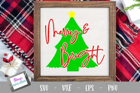 Choose from 11000+ christmas tree graphic resources and download in the form of png, eps, ai or psd. Christmas SVG - Merry and Bright SVG with Christmas Tree ...