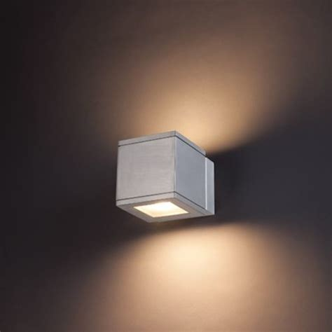 rubix indoor outdoor led wall sconce by modern forms