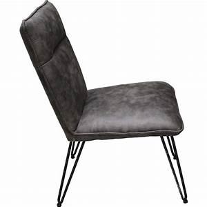 Fauteuil Pied Metal : chaise pied metal et assise epaisse fats ~ Teatrodelosmanantiales.com Idées de Décoration