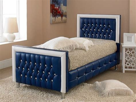 Beds For Sale by Beds For Sale Best Price Faux Leather Bed Blue Single Beds