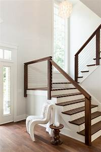 indoor stair railing staircase transitional with modern