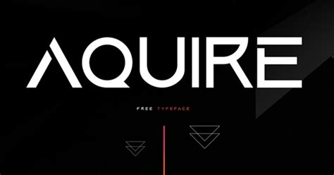 Download Aquire Modern and Futuristic Font   Freebies for ...