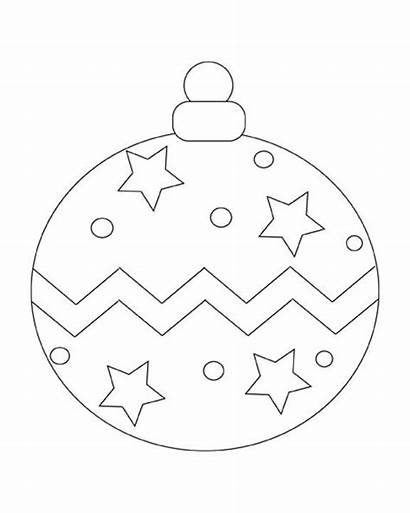 Christmas Ornament Ornaments Printable Coloring Pages Ball