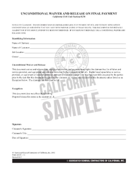 Bill Of Sale Form Conditional Waiver Of Lien Forms Bill Of Sale Form Conditional Waiver Of Lien