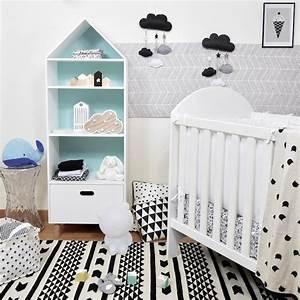Deco Scandinave Chambre Bebe : d co chambre b b en noir et blanc blog deco clem atc ~ Melissatoandfro.com Idées de Décoration