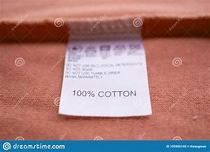 White Laundry Care Washing Instructions Clothes Label On