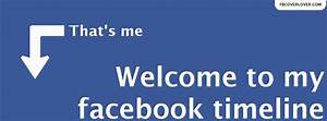 Welcome To My Facebook Facebook Cover - fbCoverLover.com