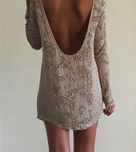 Dress: beaded dress, backless, sequin dress, prom dress ...
