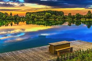 fascinating scenery of lakes Stock Photo 02 free download