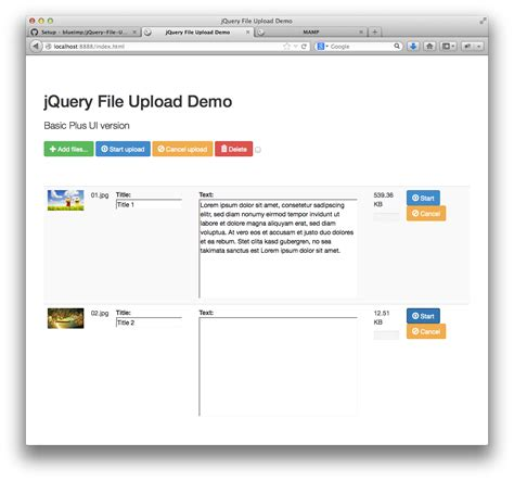 Jquery File Upload, Get And Edit Data Which Is Saved