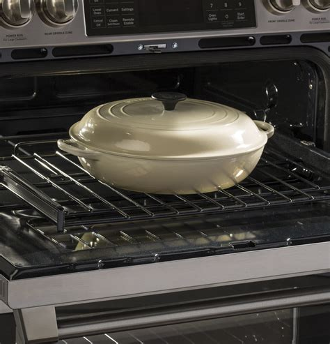 ge cafe cgsselss series    front control gas double oven  convection range