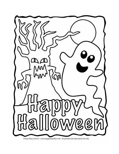 Coloring Halloween Pages Easy Printable Adults Printables