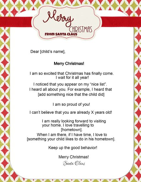 christmas letter from santa free letters from santa 20847 | letter from santa 2