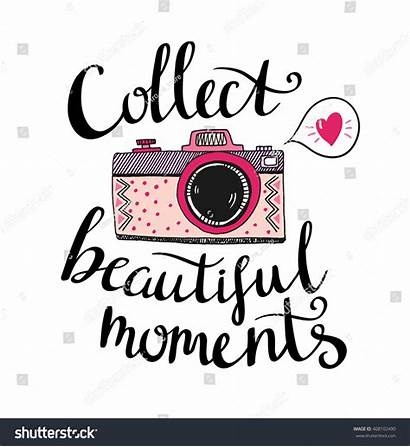 Collect Camera Moments Stylish Retro Vector Lettering