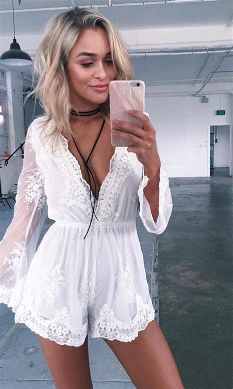 White Romper Outfit - Oasis amor Fashion