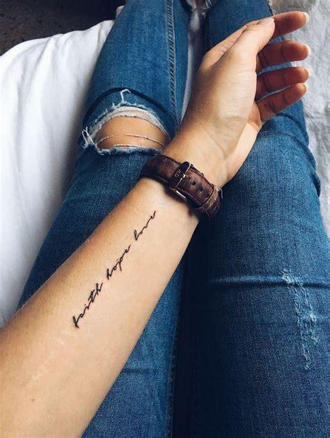 beautiful faith hope love tattoo design ideas  men