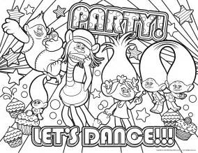 DreamWorks Trolls Coloring Pages Printable