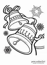 Bells Coloring Printable Holiday Printcolorfun sketch template