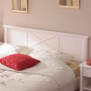 Lit Blanc Adulte : lit adulte 140x190cm charme blanc ~ Teatrodelosmanantiales.com Idées de Décoration