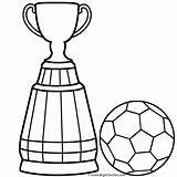 Soccer Coloring Ball Trophy Pages Cup Colouring Drawing Easy Player Trophies Clipart Getdrawings Clip Boys Steps Clipartmag sketch template
