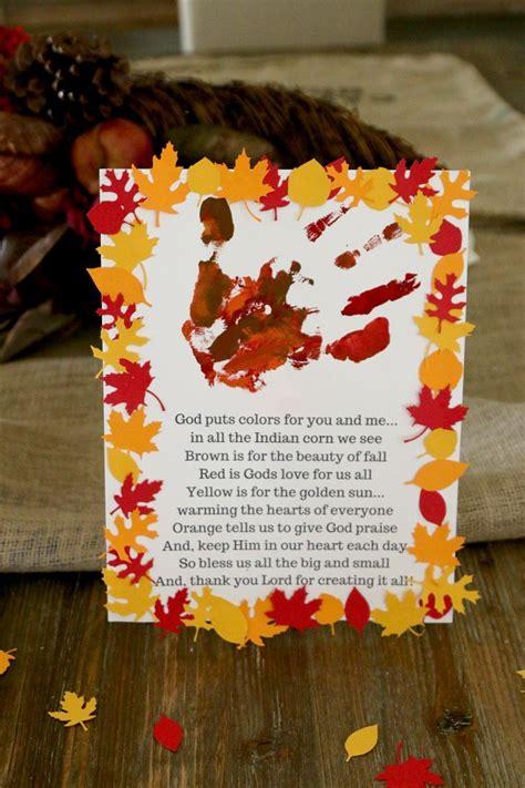 thanksgiving handprint craft  kids  learn