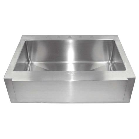 Foret Farm Sink by World Imports All Ln One Drop In Stainless Steel 36x26x10