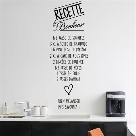 cuisine et citation sticker citation recette du bonheur stickers citations