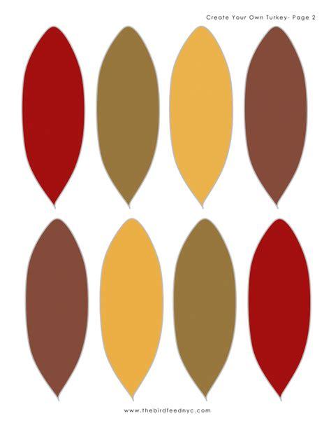 Colored Turkey Feathers Template Siteandsite Com