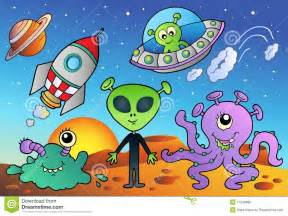 Cartoon Space Aliens