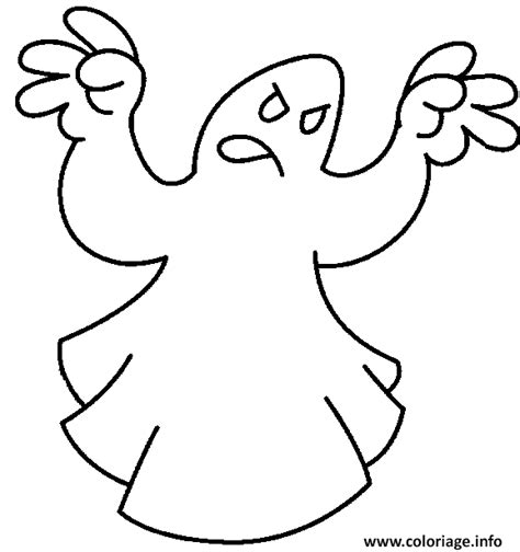 dessin de fantome a imprimer coloriage un fantome qui essai de faire peur dessin